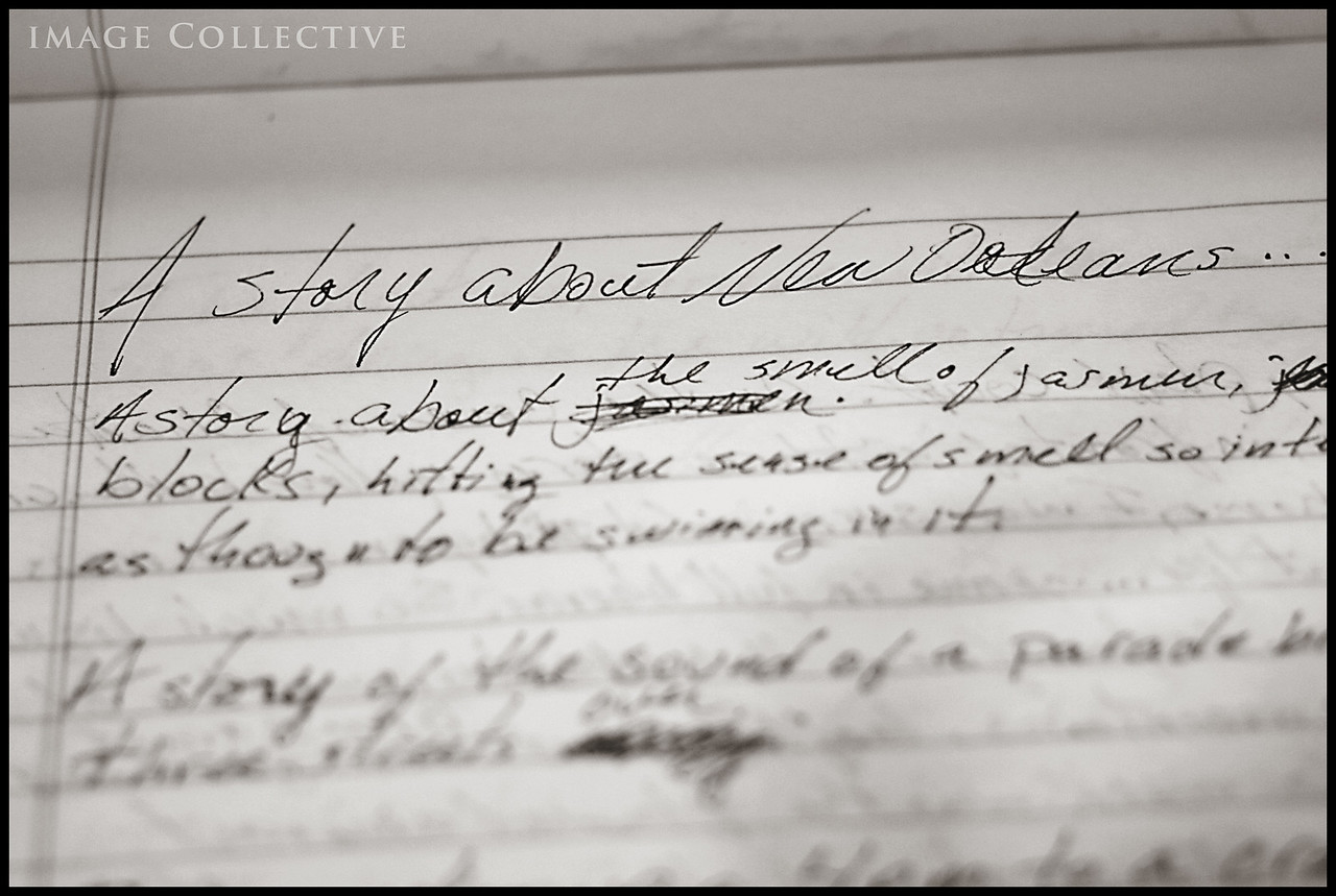 A Story Of New Orleans. Writings of Lacey's found in her room.