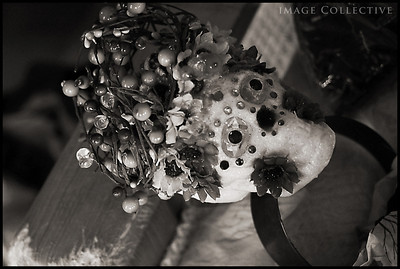 A Halloween headdress Lacey made a few years ago for the season.