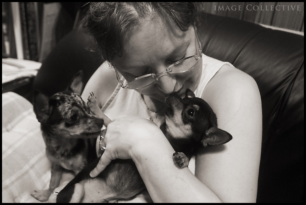 Heather Coffey loving her babies Jake and Ellwood.