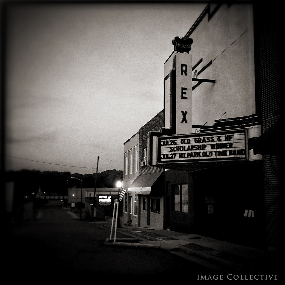 The famous Rex theater in downtown Galax.
