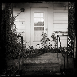 The Coffey family house front door.