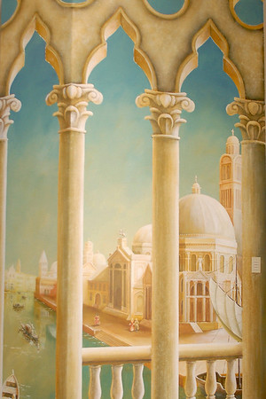 detail from 'venice morning' mural