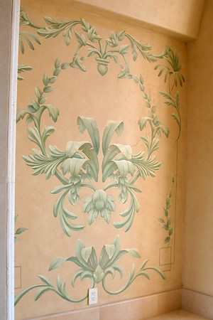 tropical french painted design