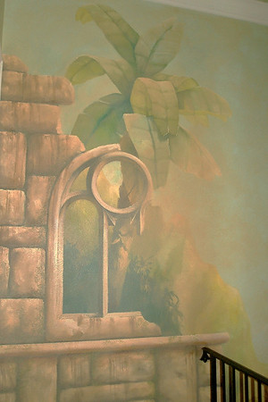 detail from 'french colonial' mural