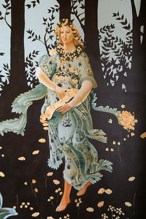 detail from  botticellis' La Primavera mural