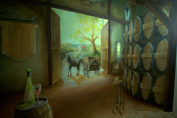 detail from 'old winery' wall mural