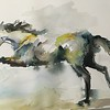 Running Horse Watercolor- SOLD