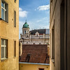 View from a courtyard. Old Town, Prague.