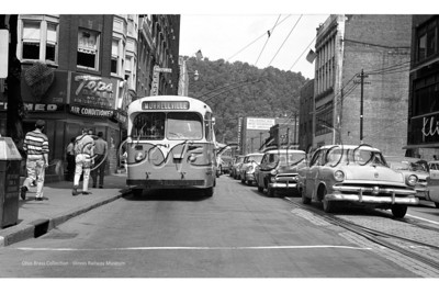 Johnstown Traction Trolleybus 741 in Service at Main & Market c1
