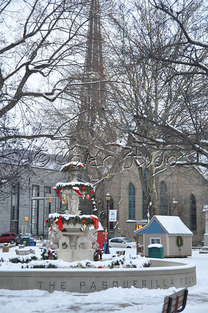 Johnstown's Central Park in Winter