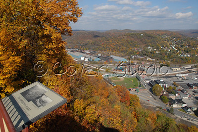 View of Johnstown, PA from Incline Plane during the Fall