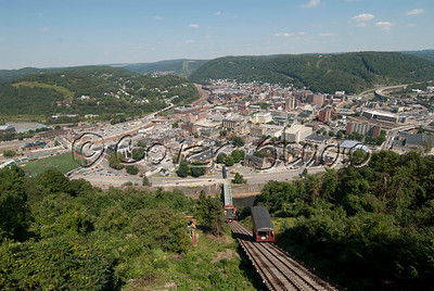 Johnstown, PA summer view from Incline Plane