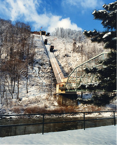 Johnstown's Incline Plane in Winter