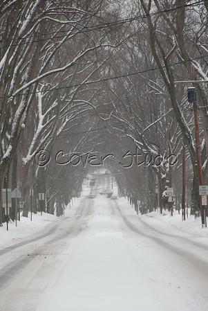 Luzerne Street in Winter