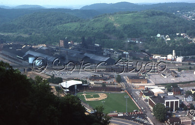 View from Johnstown's Incline Plane of Point Stadium