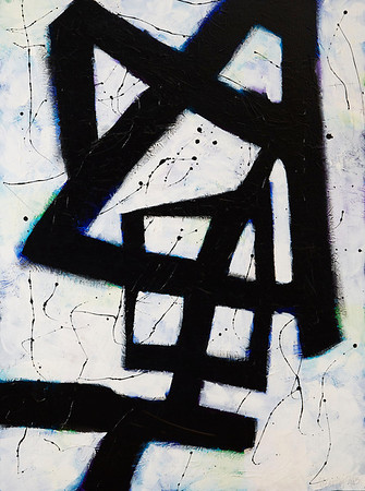 """The Blue Rune"" 2013, 36""x48"" Acrylic on Canvas"