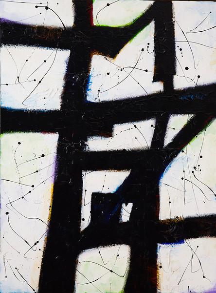 """""""The Mentaculous"""" 2013, 30""""x40"""" Acrylic on Canvas"""