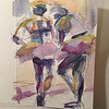 Ballerinas- Hand painted card