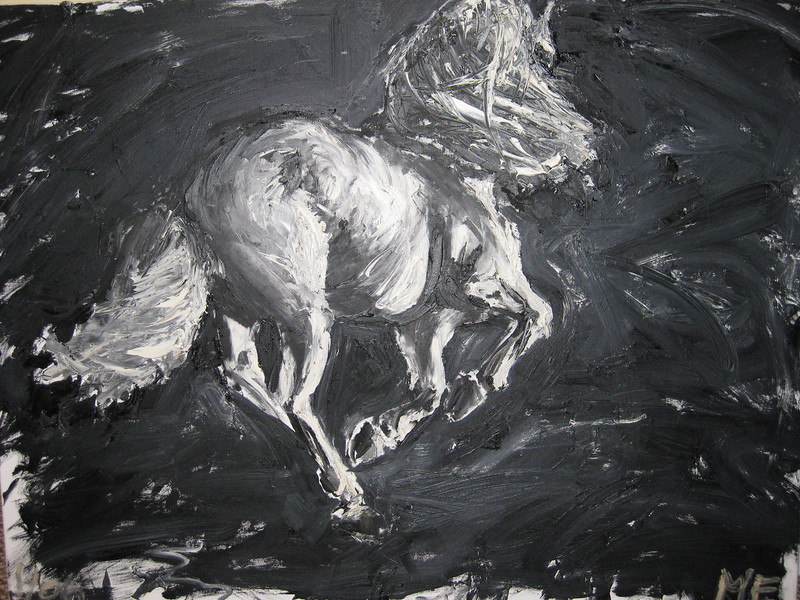 Running Horse on Canvas-SOLD