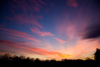 November Sunset Plate 4