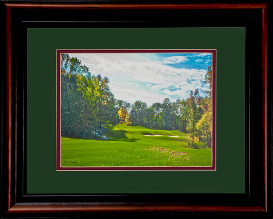 "This is a 16""x20"" framed & matted photograph enhanced to look like a watercolor painting.  It is of the first hole at Devil's Ridge.  It is priced at $150 and will be hanging in Devil's Ridge renovated club house next May.  BUT, you can buy it today :>)!! http://www.teewayne.com  .teewayne photography Cary, NC Photographer, Cary, NC Gallery  - © TeeWayne Photography"