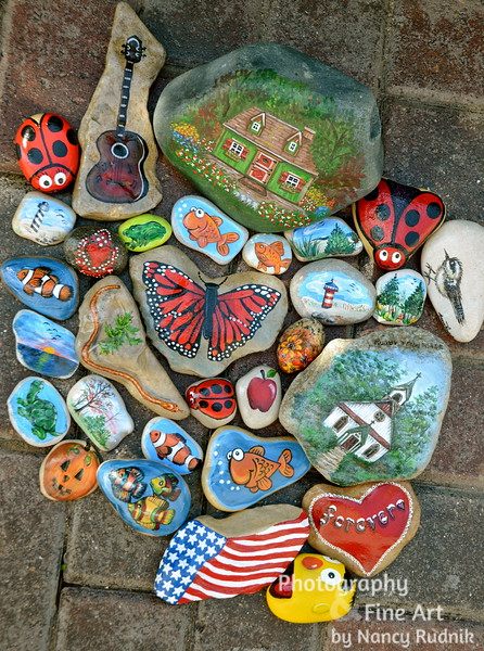 Painted stones from Michigan, Tennessee, Oklahoma