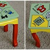 Monopoly painted bench (doll size)