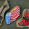 painted rocks from Redbud Valley, OK, and a creek near Nashville, TN