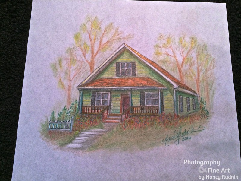 House pencil drawing_1923