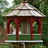 Painted bird feeder