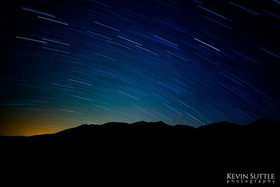 Star Trails from Minnietta Cabin in Death Valley. I was facing the direction of Briggs Mine and Las Vegas. This was a 30 minute exposure.