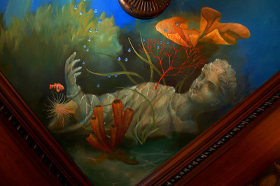 detail of 'Neptune' ceiling mural