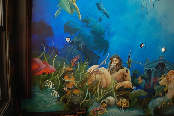 detail of 'Neptune' ceiling mural