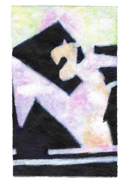 """z343"" - 2011 - Acrylic on Paper"