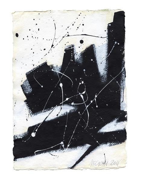 """Melancholia"" - 2011 - 12""x16"" - Acrylic on Paper"