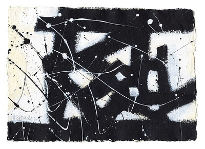 """Apres La Guerre"" - 2011 - 16""x12"" - Acrylic on Paper"