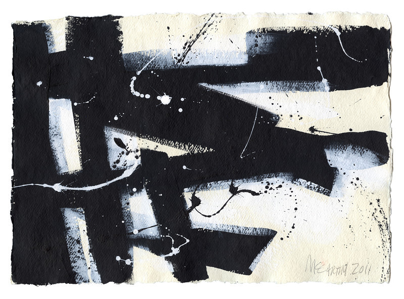 """""""I'm Walking Here!"""" - 2011 - 16""""x12"""" - Acrylic on Paper"""