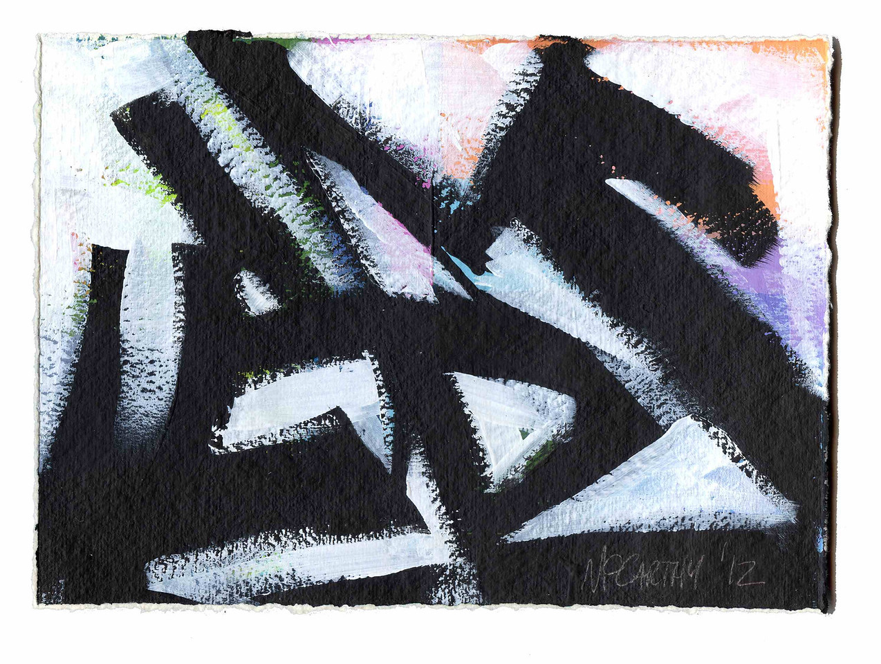 """Study for: """"Confusion Boats"""" - 2012- Acrylic on Paper"""