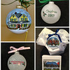 """""""Home for the Holidays"""" house ornaments on large glass bulbs and custom gift boxes"""