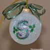 Small glass initial ornament