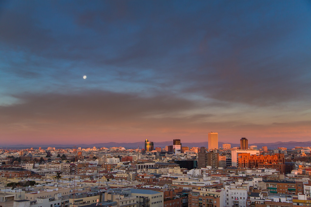 Sunrise over Madrid