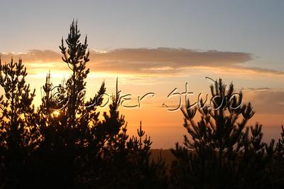 Sunset at Pebble Beach, California