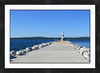 "Petoskey<br /> <br /> Cropped to 24""x36""<br /> <br /> Double matted with black frame<br /> 2 inch mat - 2 inch frame"