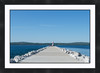 "Petoskey Breakwall<br /> <br /> Cropped to 24""x36""<br /> <br /> Double matted with black frame<br /> 2 inch mat - 2 inch frame"