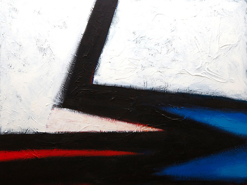 """Red Shift, Blue"" - 2011 - 40""x30"" - Acrylic on Canvas"