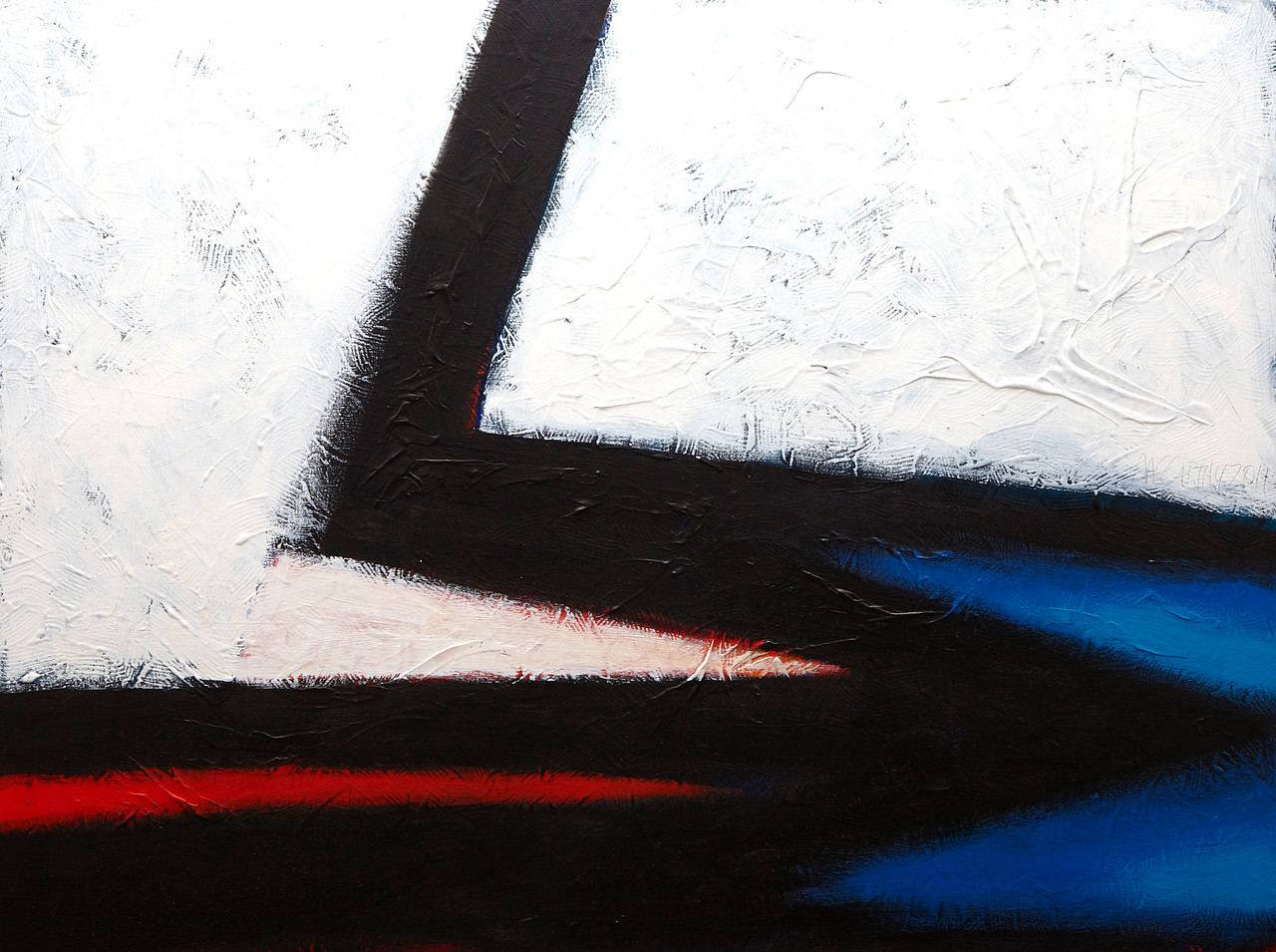 """""""Red Shift, Blue"""" - 2011 - 40""""x30"""" - Acrylic on Canvas"""