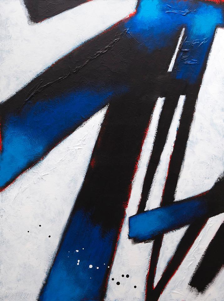 """Through the Broken Years"" - 2011 - 30""x40"" - Acrylic on Canvas"