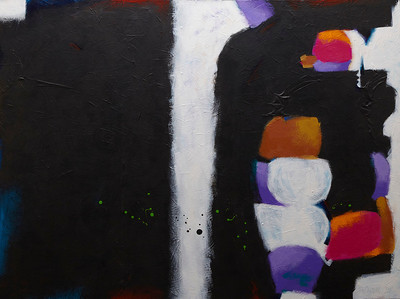 """A Strangeness That is Almost Holy"" - 2011 - 40""x30"" - Acrylic on Canvas"