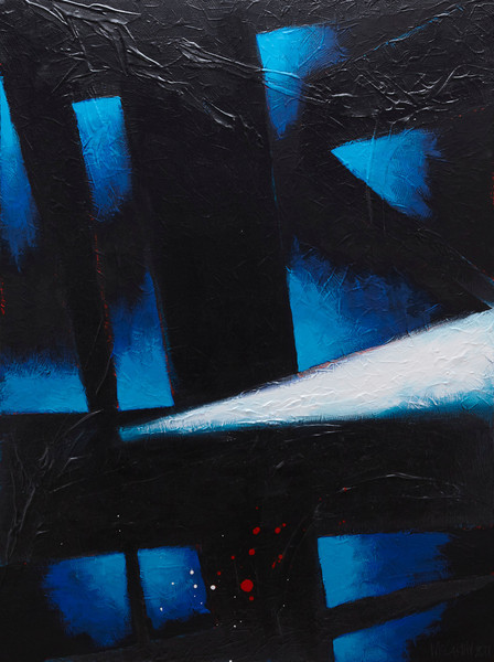 """Lonesome (So I'm a Thief)"" - 2011 - 30""x40"" - Acrylic on Canvas"