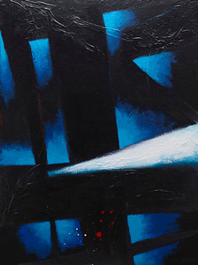 """Lonesome (So I'm a Thief)"" - 2011 - 30""x40"" - Acrylic on Canvas"